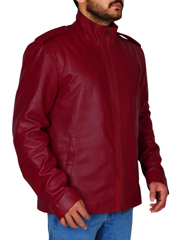 cool color leather jacket, real leather jacket