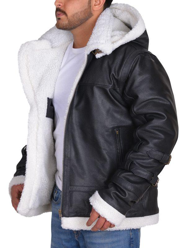 stylish shearling jacket, us army jacket