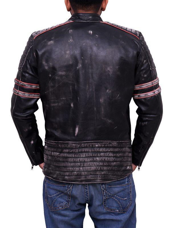 collage student leather jacket, sleek biker jacket