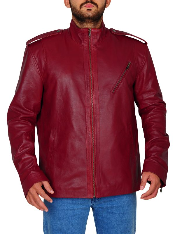 most trending leather jacket, slim fitted leather jacket