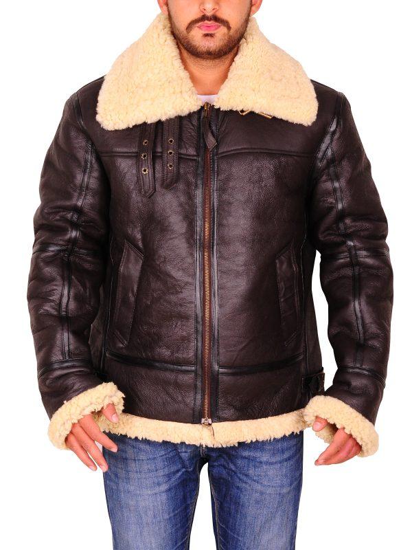 attractive bomber jacket, inside fur leather jacket