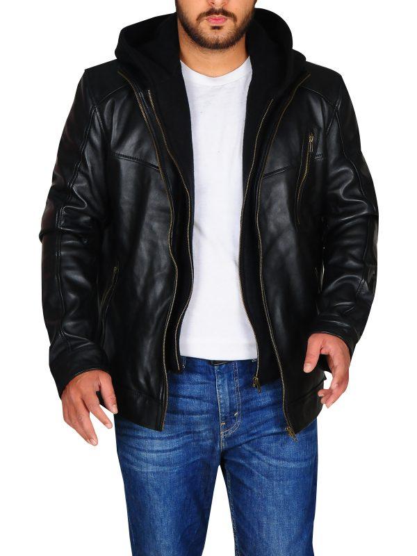 black biker leather jacket, leather jacket for men