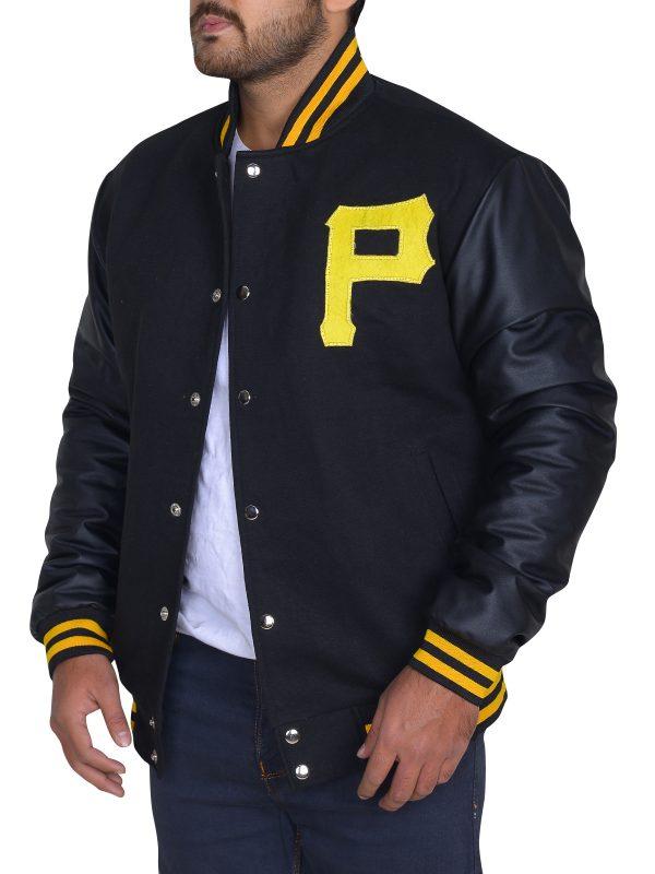 collage varsity jacket, black slim fit varsity jacket