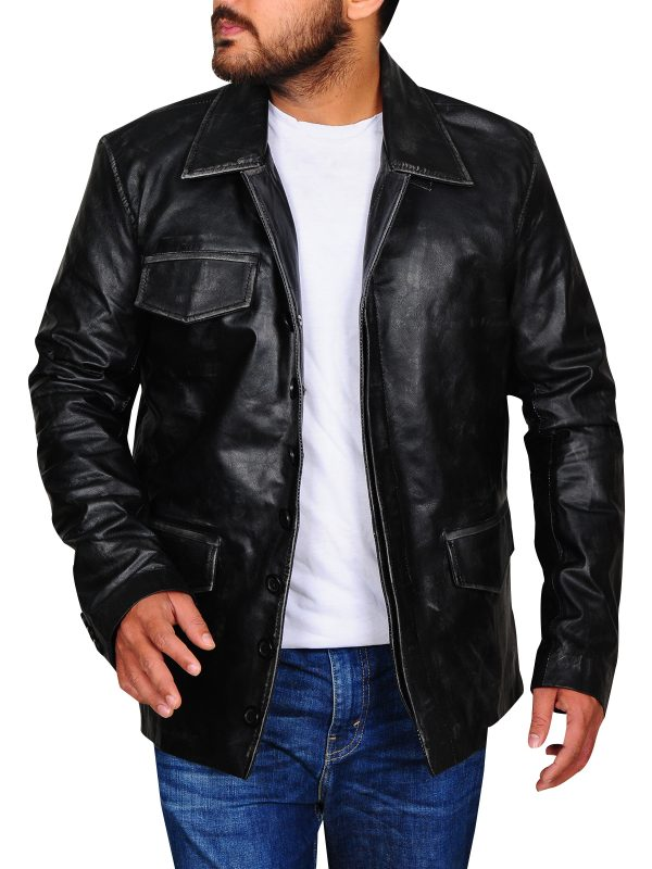 slim fit leather jacket, attractive leather jacket
