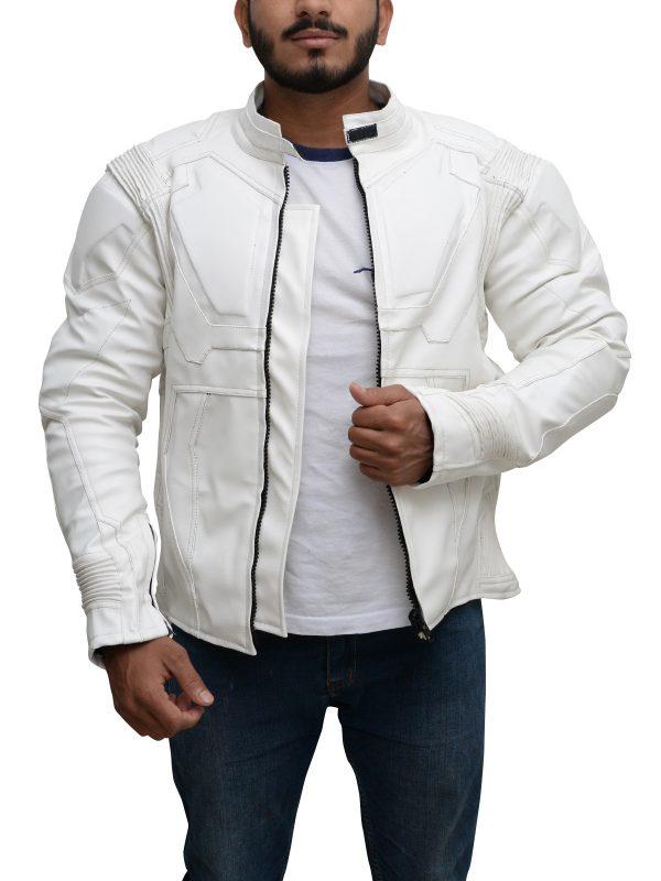 white leather jacket, student discount on jacket