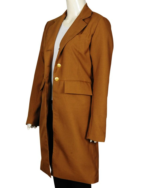 mauvetree long coat, caramel brown long coat