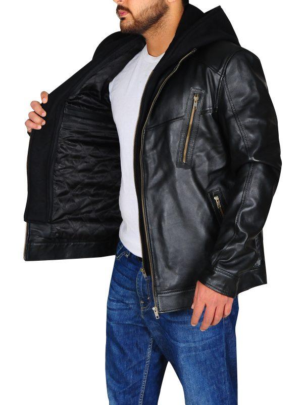 dashing biker leather jacket, slim fit biker jacket