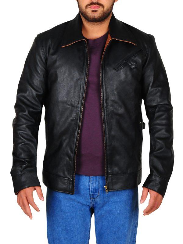 eye catching leather jacket, perfect black leather jacket