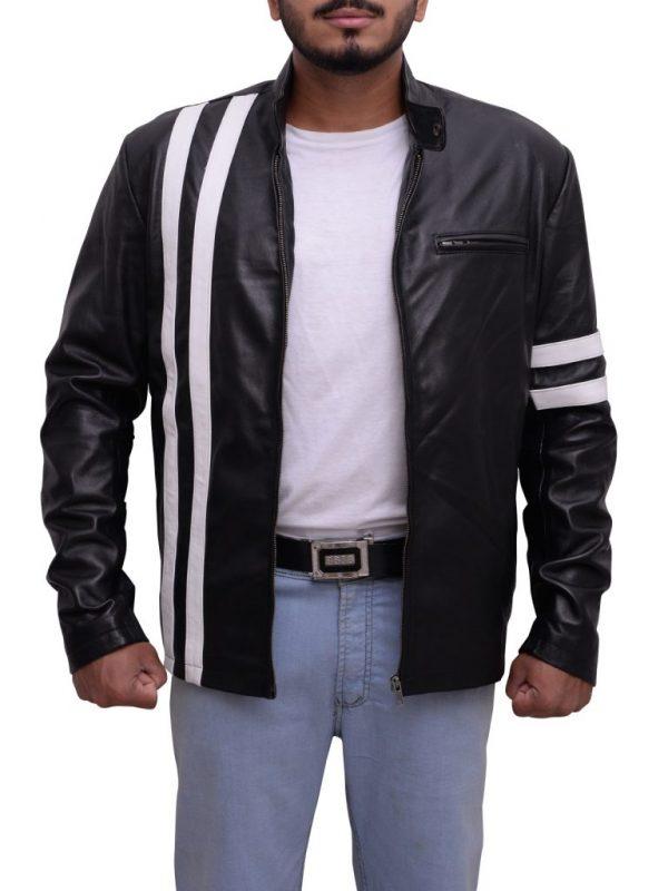 stylish jacket for bikers, men leather jacket