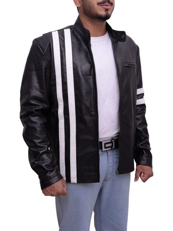 black leather jacket, dashing leather jacket
