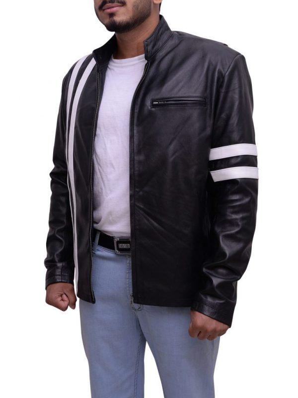 attractive leather jacket, fashionable leather jacket
