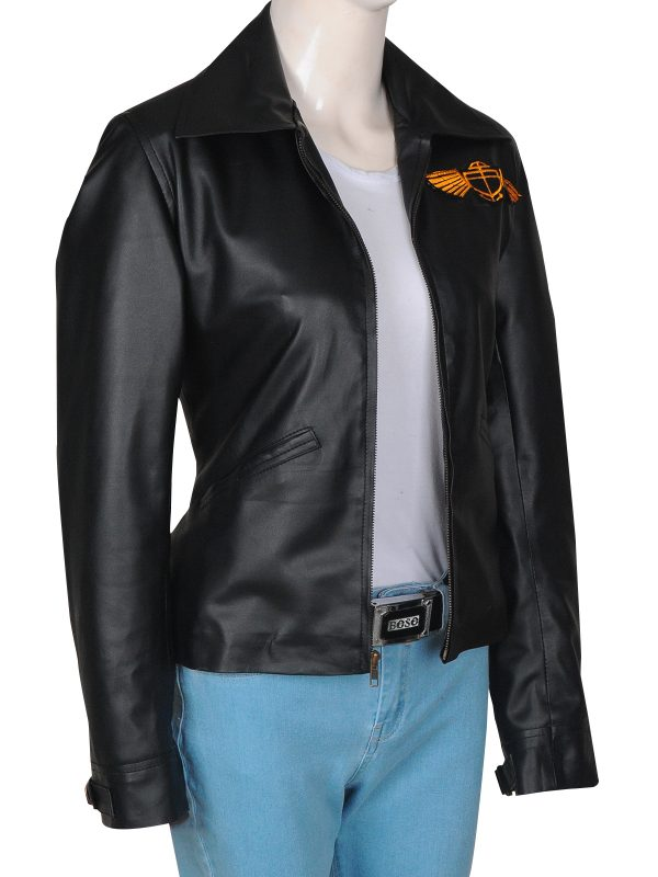 trendy leather jacket, fashionable leather jacket