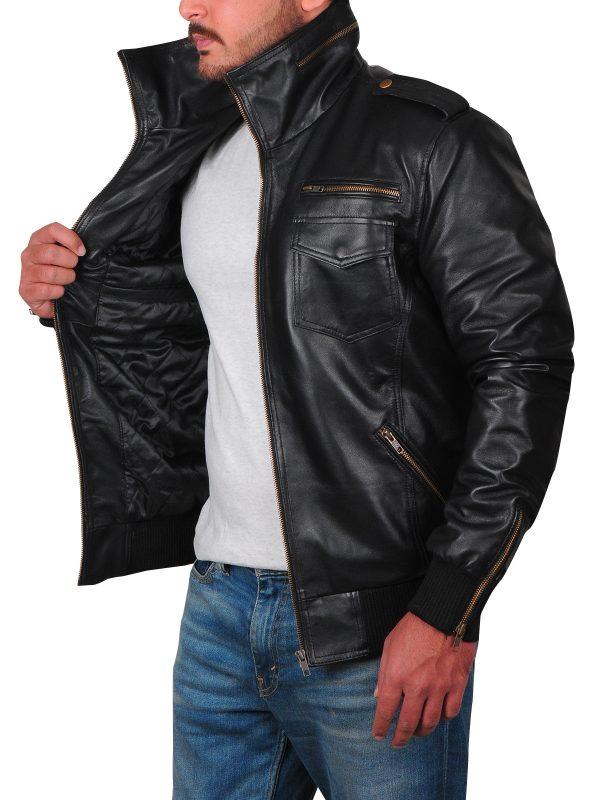 stylish black jacket, teen boys leather jacket