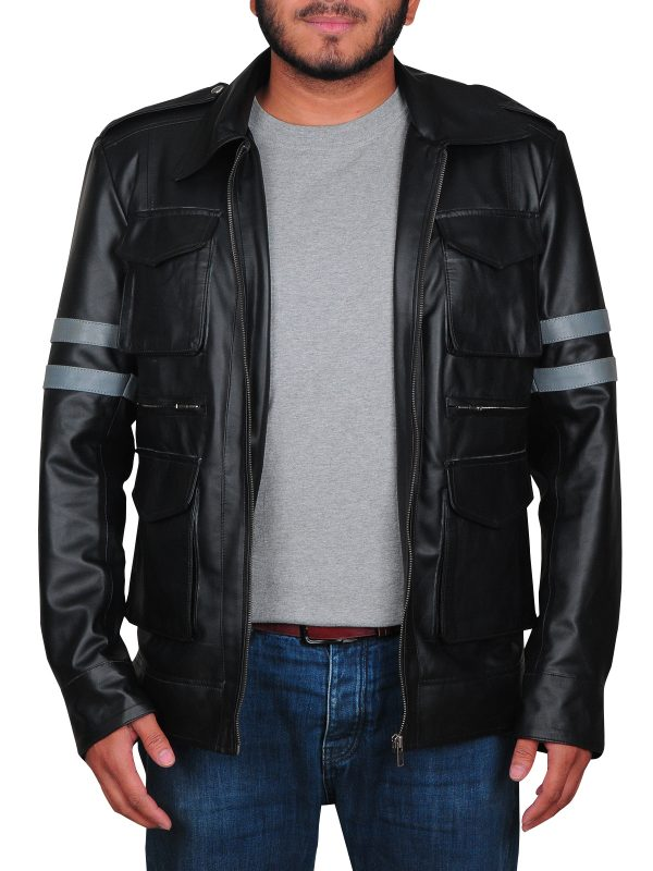cool leather jacket for teen, black leather jacket