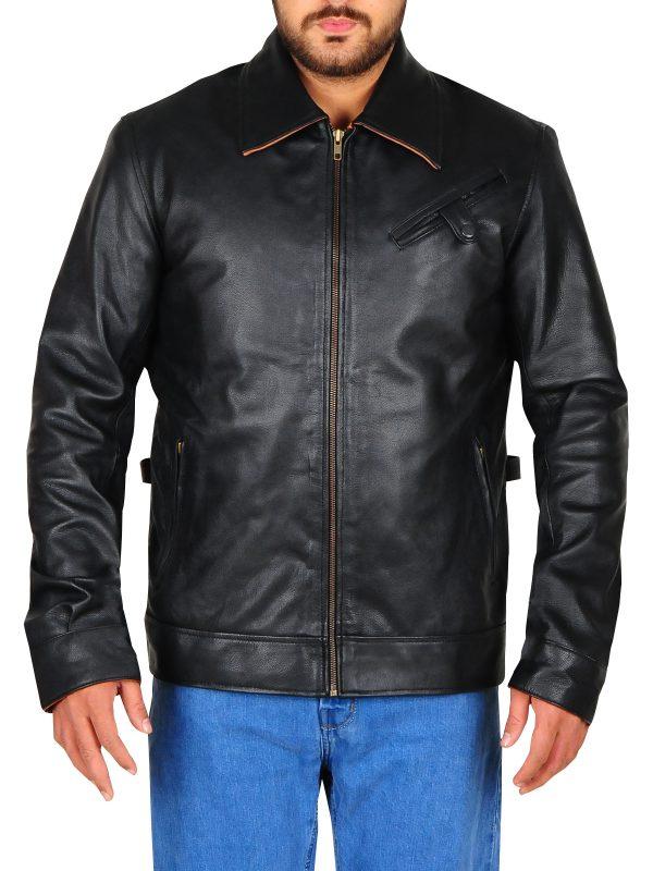warm black leather jacket, leather jacket for boys