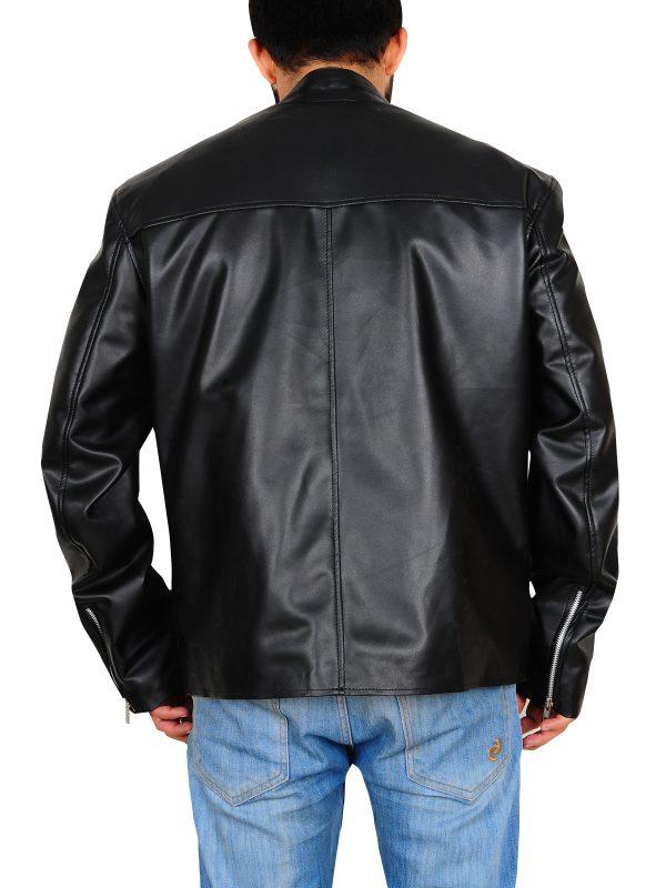 cool black leather jacket, black leather jacket