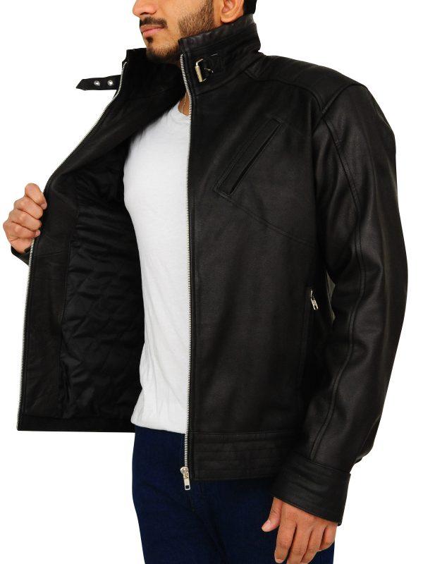 slim fit leather jacket for college boys, slim fit black jacket for bikers