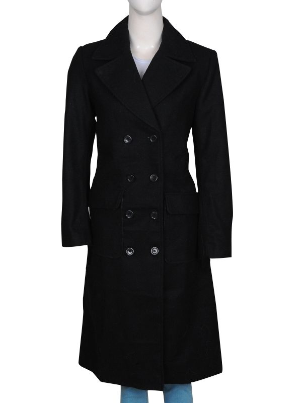 black long coat for women, black long coat office wear