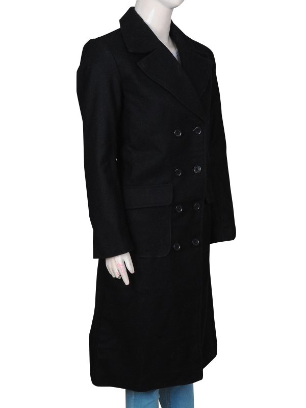 body fitted long coat, wool long coat