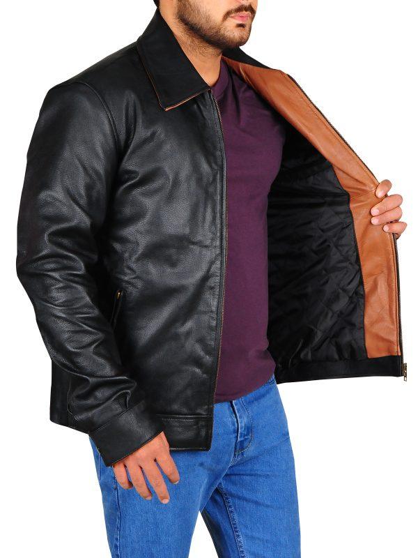 black leather jacket for college boys, stylish black jacket