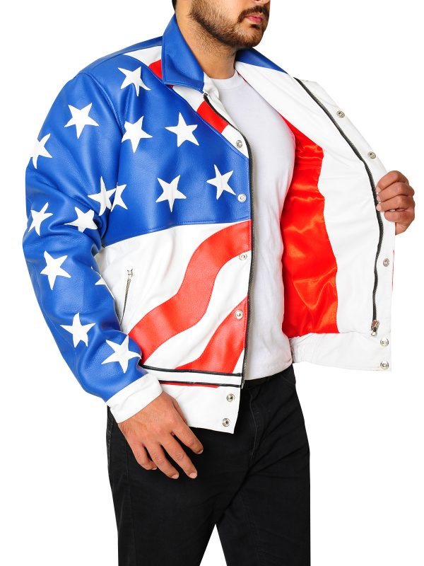 vanilla ice flag jacket, vanilla ice leather jacket
