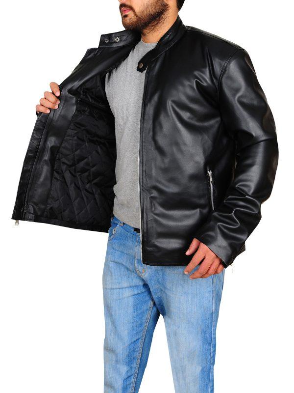 simple black leather jacket, trendy black leather jacket