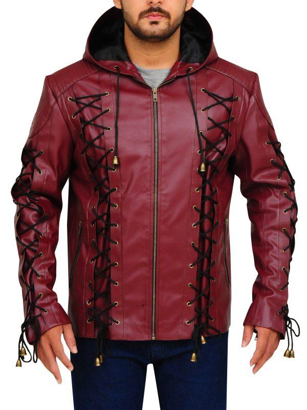 maroon leather jacket, men maroon jacket,