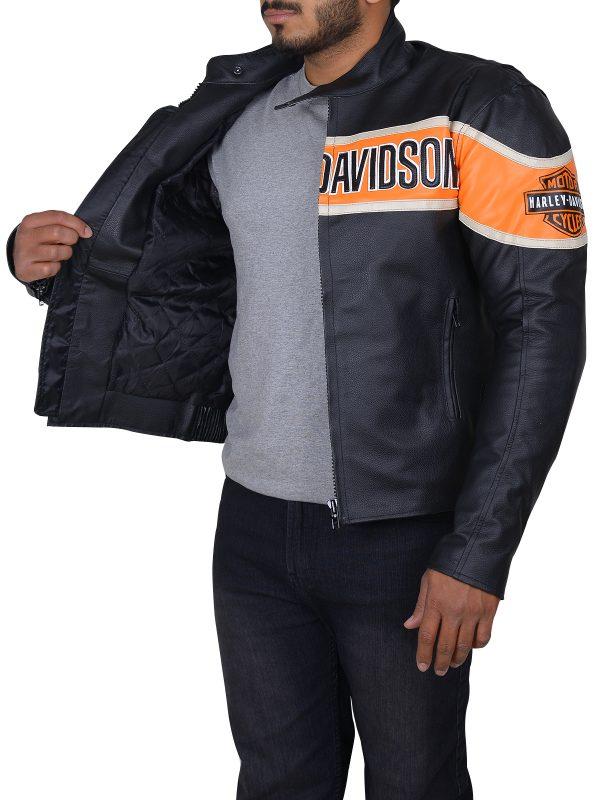 harley davidson leather jacket, slim fit biker jacket