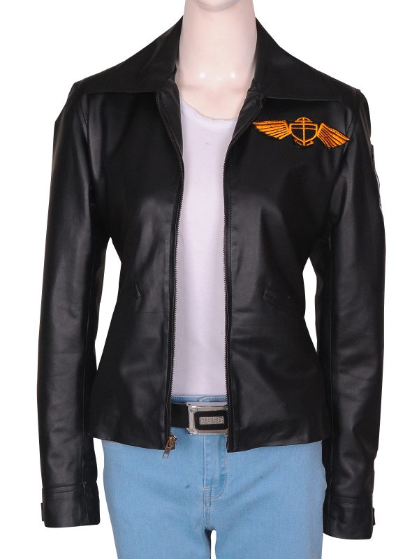classy leather jacket, college girl leather jacket