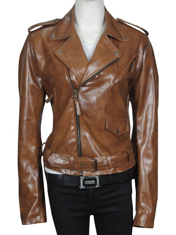 kim kardishian leather jacket, brown kim kardishian jacket