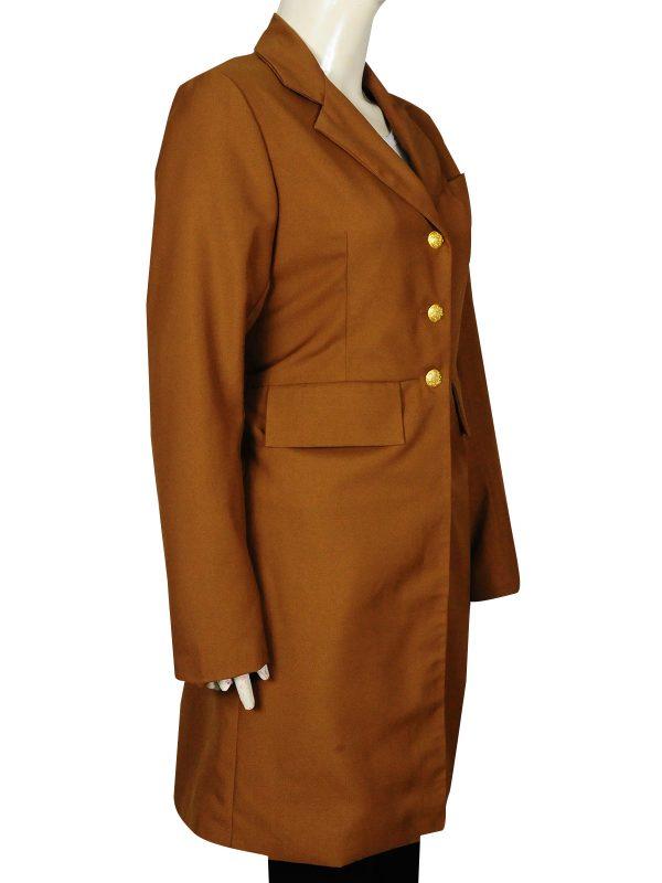 pure cotton female coat, cool female long coat