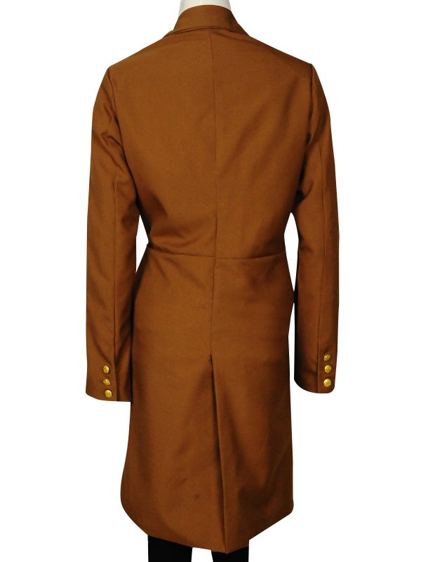 brown female coat for office wear, student discount on female long coat