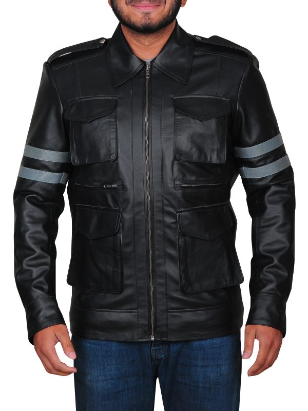 slim fit leather jacket, trendy leather jacket