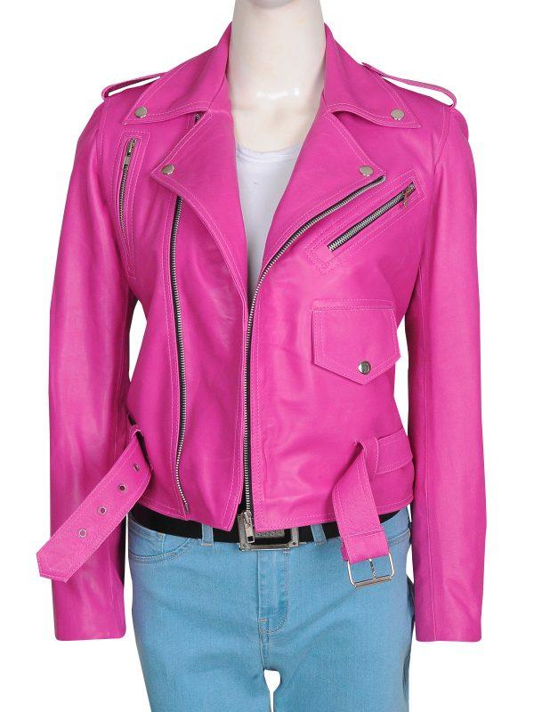 fucshia pink leather jacket, fucshia pink hot leather jacket