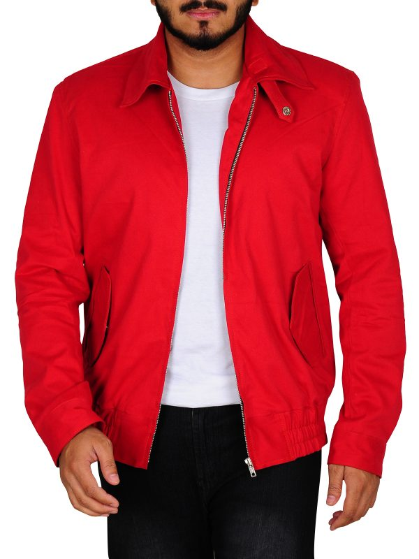 stylish red leather jacket, red leather jacket for college boys