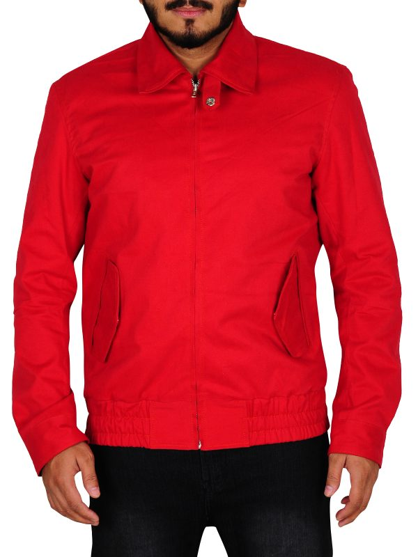 college discount on red leather jacket, cool red jacket