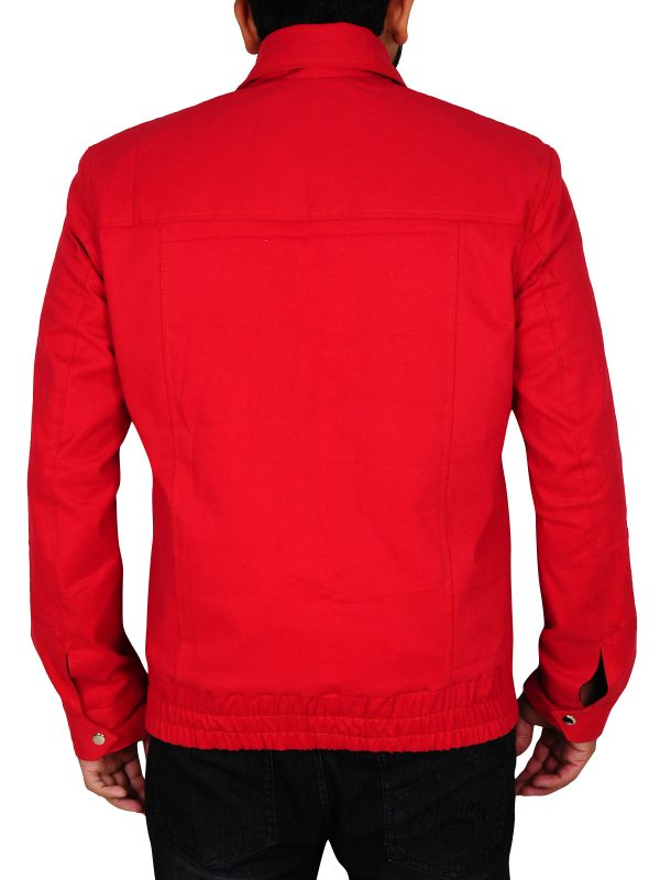 dashing red leather jacket, slim fit red leather jacket