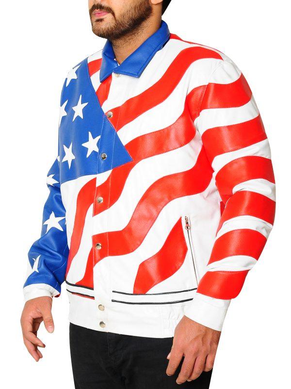 America flag leather jacket, american flag leather jacket