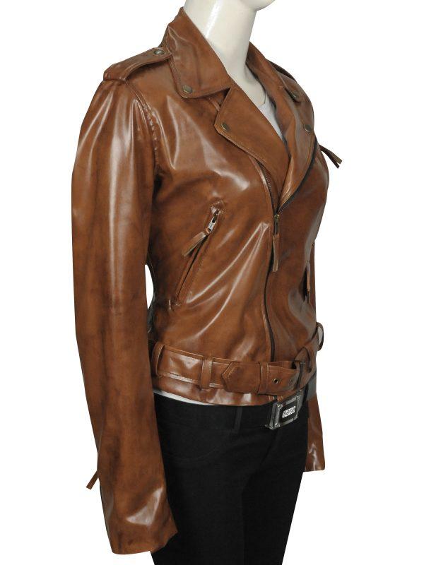 celebrity leather jacket, college girl leather jacket