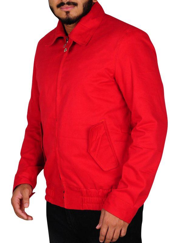 trending red leather jacket, valentine special jacket for men