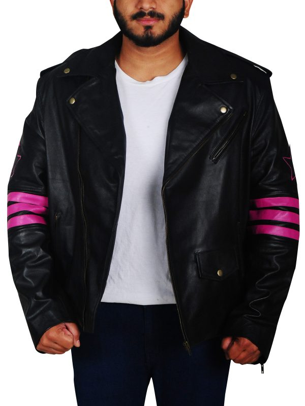 stylish biker leather jacket, biker leather jacket for men