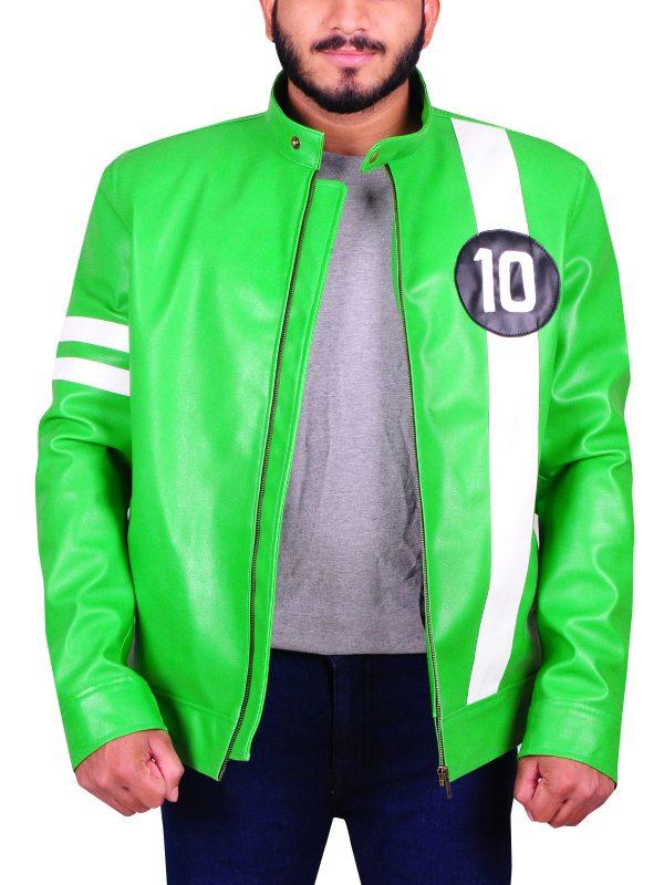 sports leather jacket, sports jacket for men, trendy green biker jacket