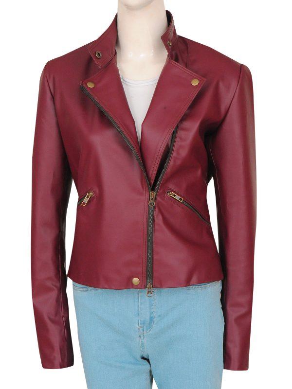 maroon leather jacket for women. women maroon leather jacket