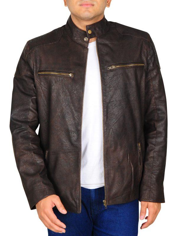 dark brown leather jacket for men, dark brown leather jacket for college boys