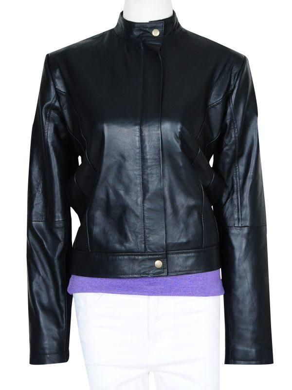 stylish wonder woman leather jacket, black wonder women jacket