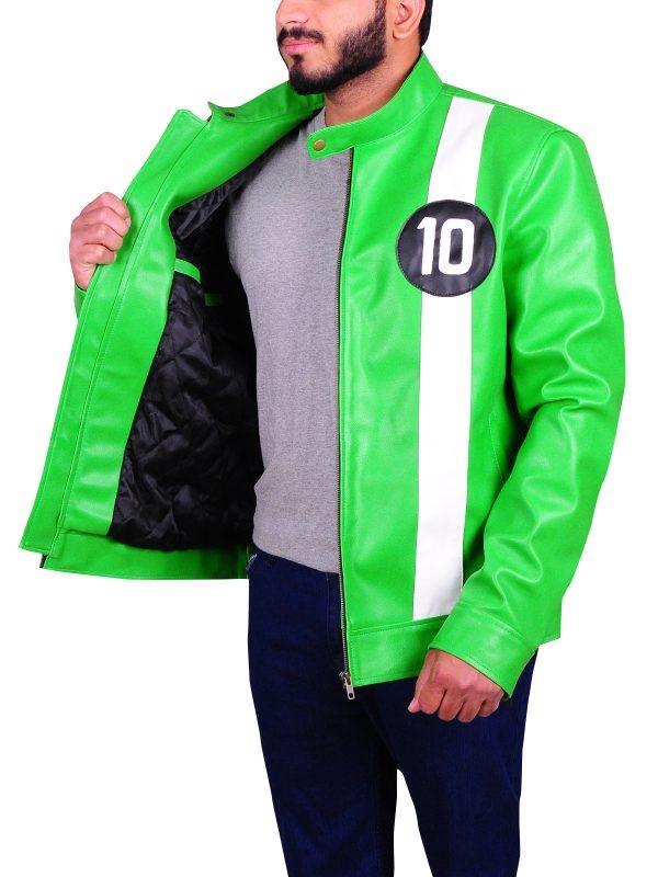 slim fit leather jacket, green sporty jacket for men