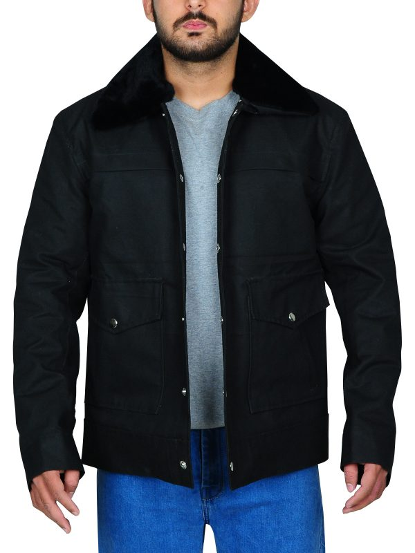 black cotton jacket for men, black cotton jacket men