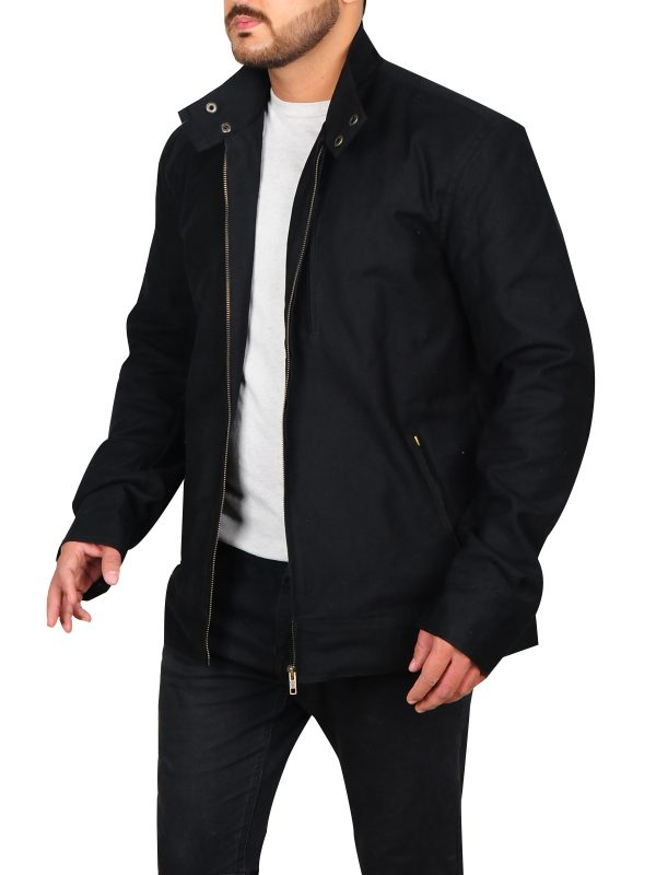 trending black cotton jacket, black cotton jacket for men