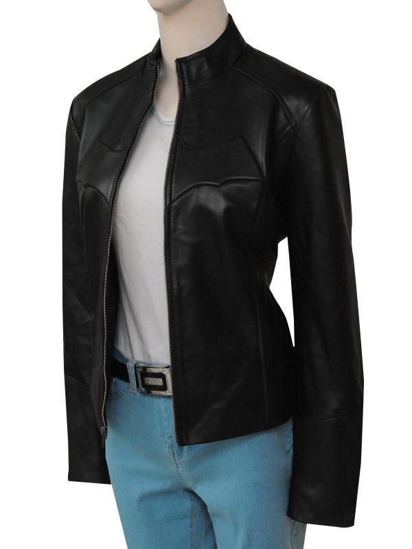 superhero batman women leather jacket, batman superhero women jacket
