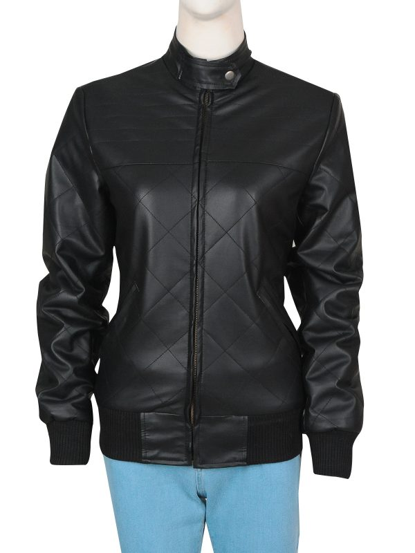 black girl leather jacket, black women leather jacket